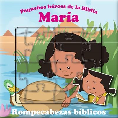María Libro De Rompecabezas Bíblico  bilingüe (Acolchada) [Libro]