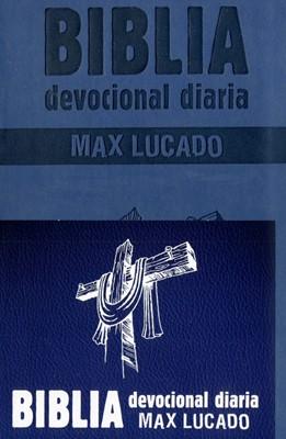 Biblia Devocional Max Lucado -  Azul (Imitación Piel)