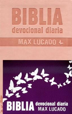 Biblia Devocional Max Lucado - Rosa (Imitación Piel)