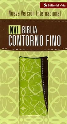 Biblia NVI Contorno Fino (Piel Verde-Marrón) [Biblia de Bolsillo]