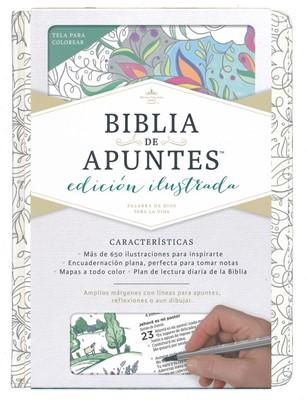 Biblia Apuntes RVR Ilustrada Tela Blanco (Tela) [Bíblia para la Mujer]