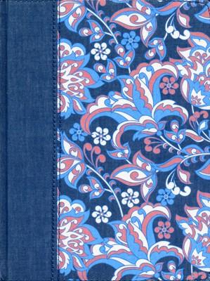 Biblia de Apuntes Rosado y Azul (Tela) [Biblia]