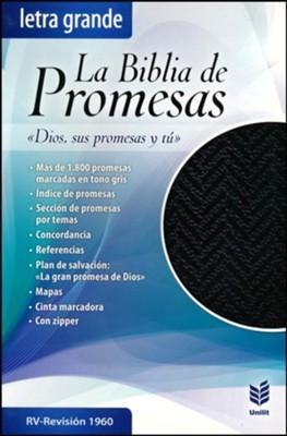 Biblia De Promesas Letra Grande Piel Especial Negro