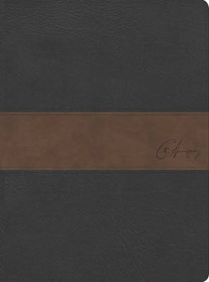 RVR 1960 Biblia de estudio Spurgeon, negro/marrón símil piel (Simil Piel)