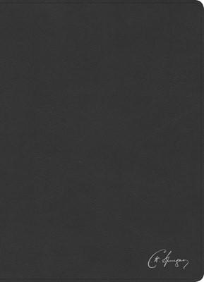 RVR 1960 Biblia de estudio Spurgeon, negro piel genuina con índice