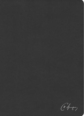 RVR 1960 Biblia de estudio Spurgeon, negro piel genuina (Piel) [Biblia de Estudio]