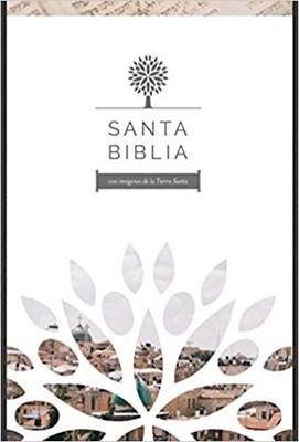 Santa Biblia RVR 1960 - Letra grande, imitación piel negra con imágenes de Tierra Santa (Imitación Piel)