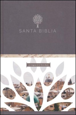 Santa Biblia RVR 1960 - Letra grande, tapa dura negra con imágenes de Tierra Santa (Tapa Dura) [Biblia]