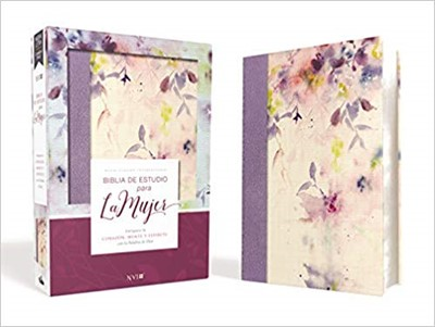 Biblia de Estudio para la Mujer NVI, Leathersoft/Tela Lila (Tapa Dura) [Biblia de Estudio]