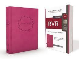 RVR Santa Biblia Ultrafina Compacta, Soft-touch, Rosa (Imitación Piel)