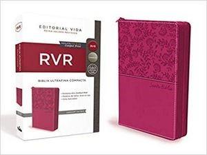 RVR Santa Biblia Ultrafina Compacta, Leathersoft con cierre (Imitación Piel)