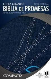 Biblia RVR 1960 de promesas compacta jeans con cierre (Tapa jeans con cierre)