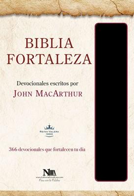 Biblia RVR60 Fortaleza MacArthur Negro (Tapa imitación piel negro) [Biblia de Estudio]