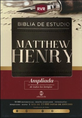 Biblia de Estudio RVR Matthew Henry (Piel Fabricada Negra) [Biblia de Estudio]