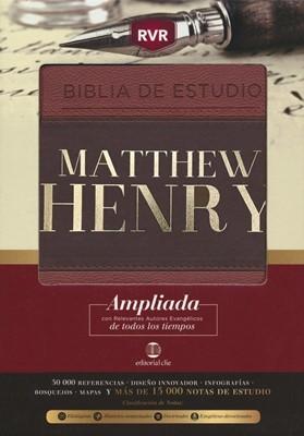 Biblia de Estudio Matthew Henry (LEATHERSOFT CLÁSICA) [Biblia de Estudio]