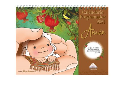 Calendario Programador 2021 Amén Ovejitas De escritorio (Tapa Dura) [Calendario]
