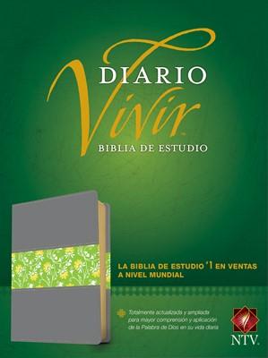 Biblia de Estudio del Diario Vivir NTV (SentiPiel Gris/Verde) [Biblia de Estudio]