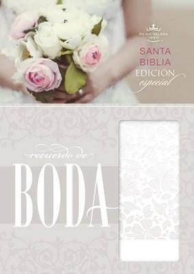 Biblia  RVR 1960 Recuerdo de Boda (SimiPiel Blanca Floral) [Biblia]