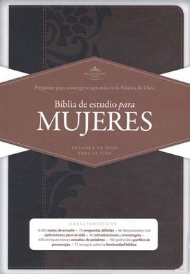 Biblia RVR60 Estudio Mujeres Cafe Piel (SimiPiel) [Bíblia para la Mujer]