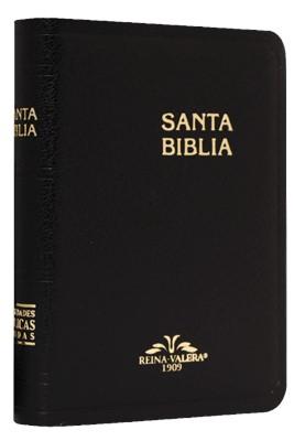 Biblia RV1909 025 Imit Negro Bolsillo (Imitación Piel Negro) [Biblia de Bolsillo]