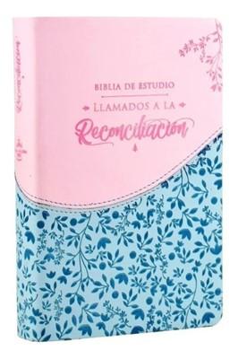 Biblia RVR065EETILG Azul Rosado