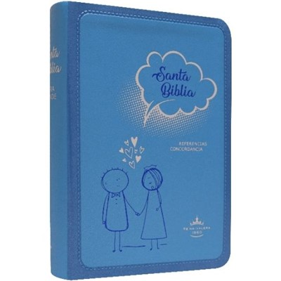 Biblia RVR045cLG Amour Azul (SimiPiel) [Biblia de Bolsillo]