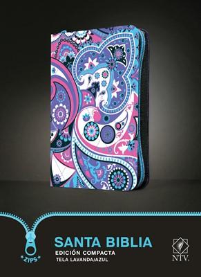 Biblia NTV Compacta Tela Lavanda Azul (Tela) [Biblia de Bolsillo]