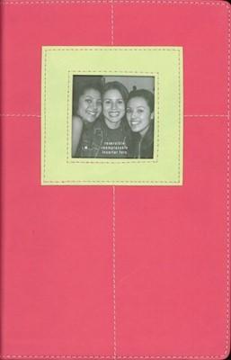 Biblia NVI G3 de Crecimiento Juvenil (Imitación Piel Rosa Verde) [Biblia]