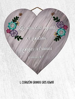 Corazon Grande Gris (MDF) [Regalos]