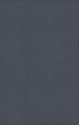 NBLA (Piel Genuina Azul Pizarra) [Biblia de Estudio]