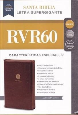 Biblia RVR60 SG Leathersoft cierre cafe (Rústico) [Biblia]
