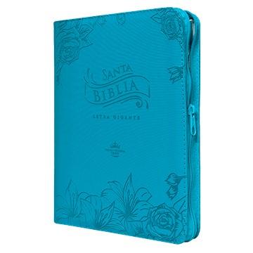 Biblia 085cZTILGi PJR Letra Gigante Imitación piel Azul (Imitación Piel Con Cierre) [Biblia]