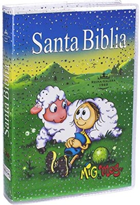 Biblia RVR040E Misionera Azul Niño (Rústica) [Biblias para Niños]