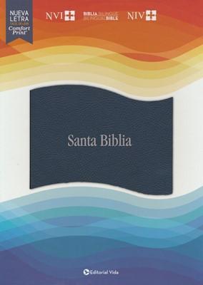 Biblia NVI Bilingüe Azul (SimiPiel) [Biblia]