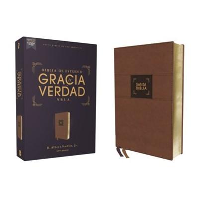 Biblia NBLA Gracia y Verdad Leathersoft Café (LeatherSoft Café ) [Biblia de Estudio]