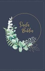 Biblia NBLA UltraFina Compacta (LeatherSoft Azul con Flores Cierre) [Biblia de Bolsillo]