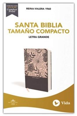 Biblia RVR60  LG TC Azul Floral LR (Tapa Dura Tela) [Biblia de Bolsillo]