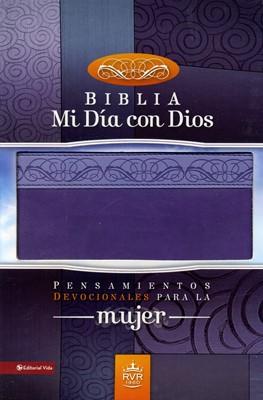 Biblia De Estudio RVR  Mi Día Con Dios (Reina Valera) (Piel) [Biblia]