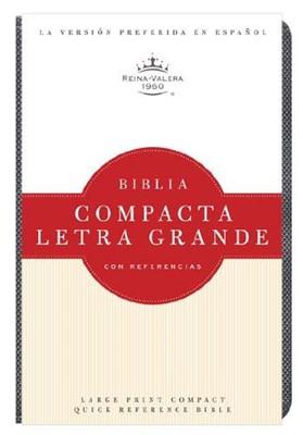Biblia Compacta Reina Valera Letra Grande con Referencias (Imitación Piel Cuarzo Griseado)