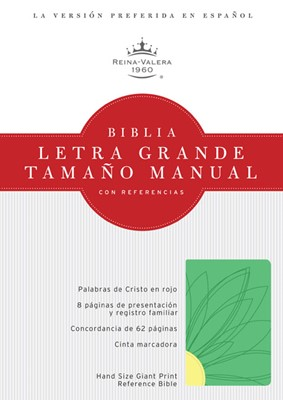 Biblia RVR Letra Grande Tamaño Manual con Referencias (Imitación Piel - Verde Primavera - Amarillo Limón) [Biblia]