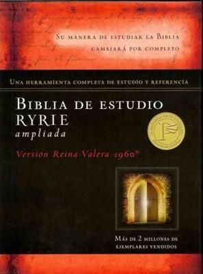 Biblia De Estudio Ryrie/RVR/Ampliada/Imitacion Piel/Negro