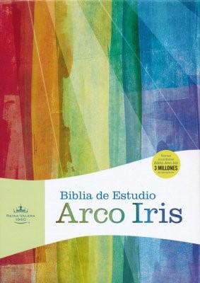Biblia RVR Arco Iris (Imitación Piel Negra) [Biblia de Estudio]