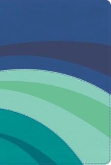 Biblia RVR Arco Iris con Índice (Imitación Piel azul eléctrico/celeste/turquesa ) [Biblia de Estudio]