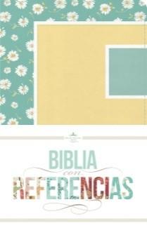 Biblia Reina Valera con Referencias (Imitación Piel margaritas, turquesa/amarillo ) [Biblia]