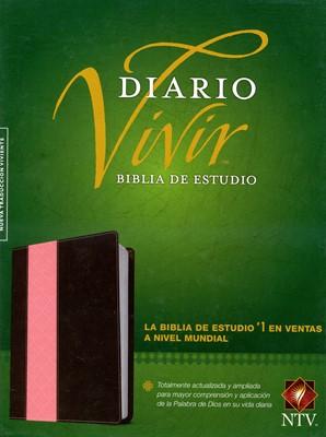 Biblia NTV De Estudio Diario Vivir (Semi piel dos tonos rosa - café) [Biblia de Estudio]