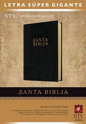 Biblia NTV Edición súper gigante (Tapa Dura Imitación piel negro) [Biblia]