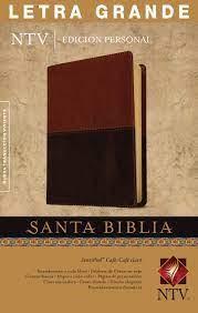 Biblia NTV edición personal letra grande (Imitación Piel Duo Tono Cafe-Cafe Claro) [Biblia]