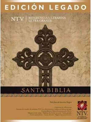 Biblia NTV Letra Grande con Referencia Ultrafina (Piel de Becerro negro - burdeos) [Biblia]