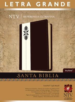 Biblia NTV Letra Grande con Referencia (Piel especial dos tonos con detalles) [Biblia]