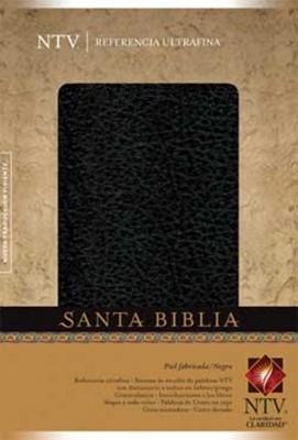 Biblia NTV Ultrafina con Referencia (Piel fabricada Negro) [Biblia]